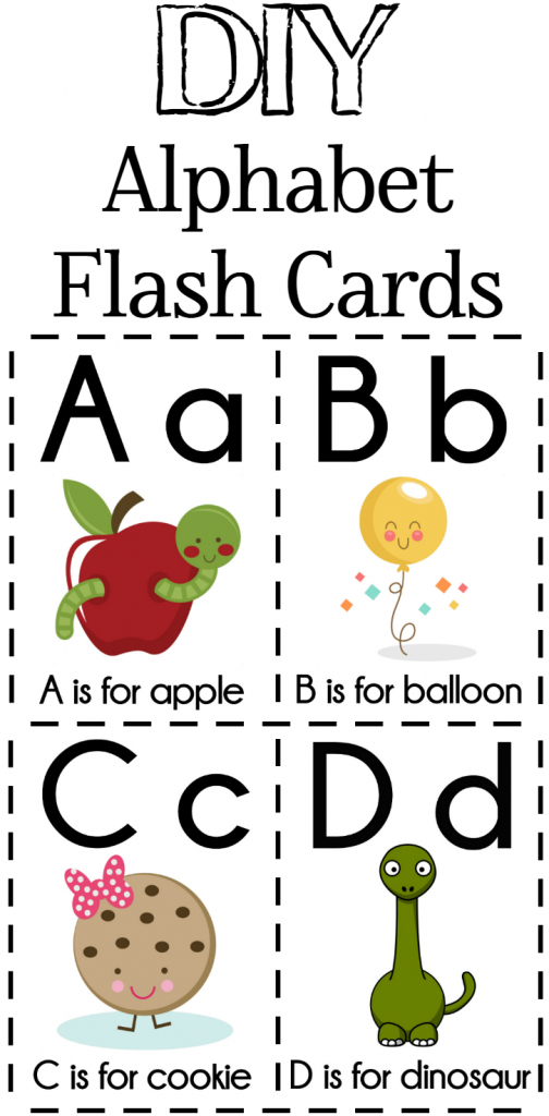 Diy Alphabet Flash Cards Free Printable | Alphabet Games | Printable Alphabet Cards Without Pictures