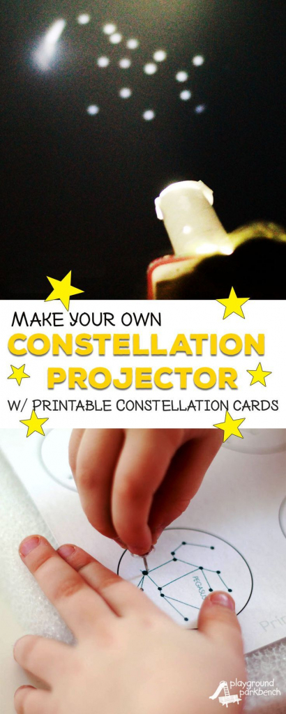 Diy Constellation Projector | Science Activities | Preschool Science | Printable Constellation Projection Cards