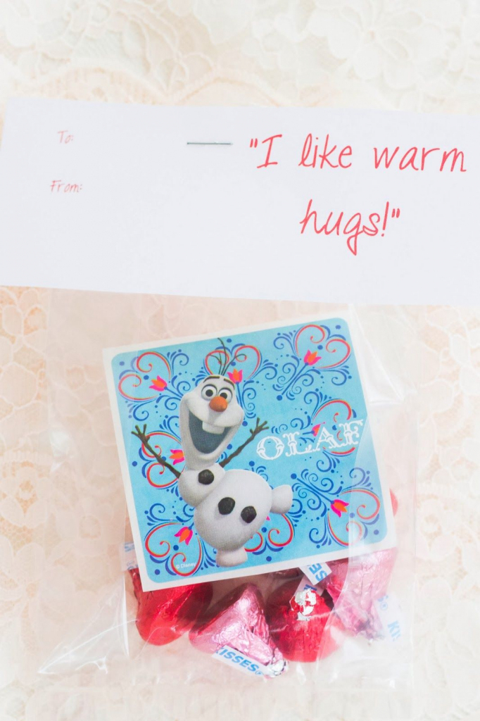 Diy Frozen Valentine Cards And A Free Frozen Printable With All The | Frozen Valentine Cards Printable