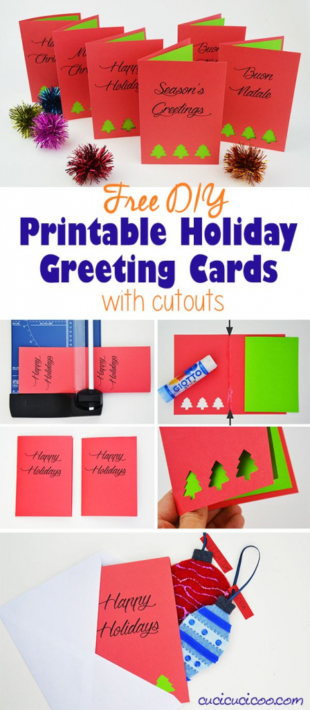 Diy Greetings: Free Printable Holiday Cards With Cutouts | Christmas Cards For Loved Ones Printables