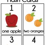 Diy Number Flash Cards Free Printable | Preschool | Preschool | Printable Baby Flash Cards