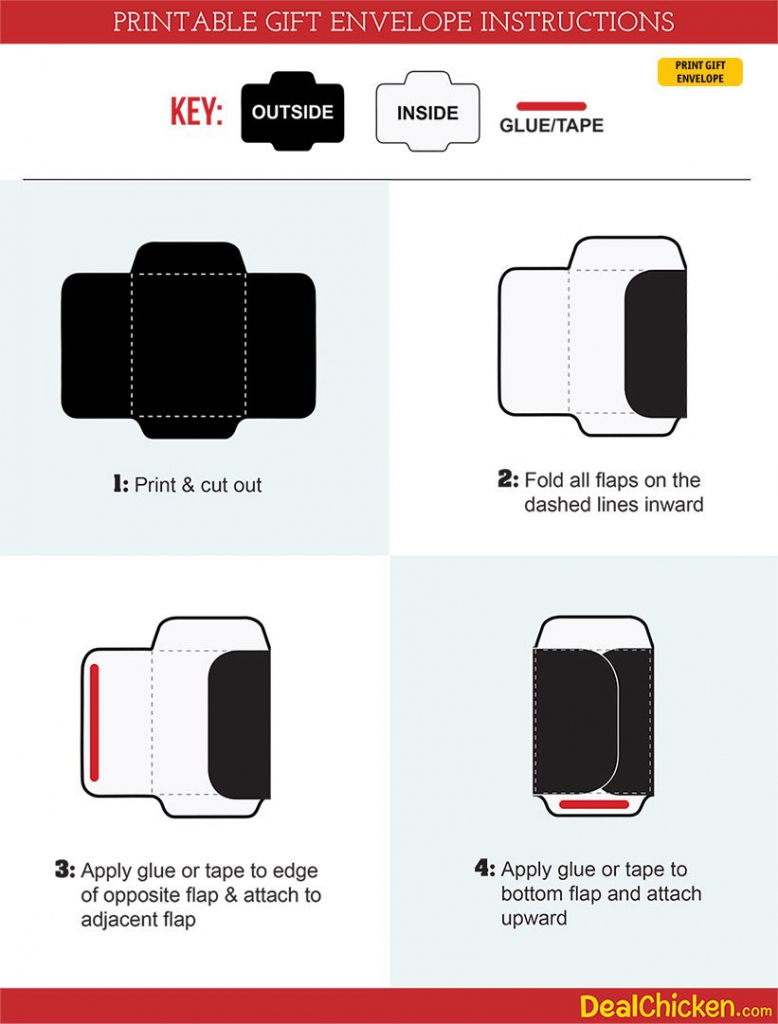Diy Printable Gift Envelope | Free Printable Envelope Template And | Free Printable Gift Card Envelope Template