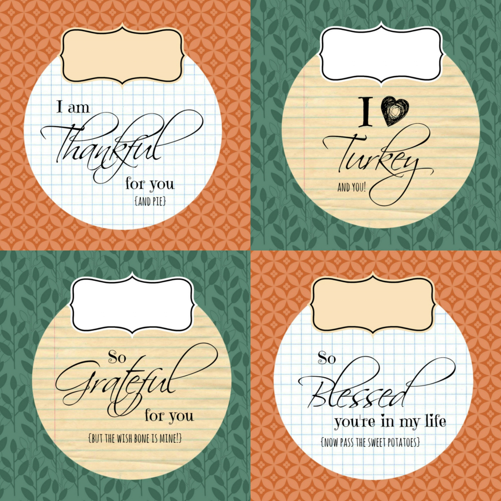 Diy Printable Thanksgiving Silverware Place Card Holders | Printable Thanksgiving Place Cards