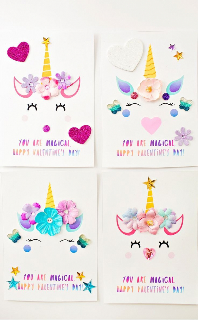 Diy Unicorn Valentine Cards | Roses Are Red, Violets Are Blue | Valentine's Day Card Printable Templates