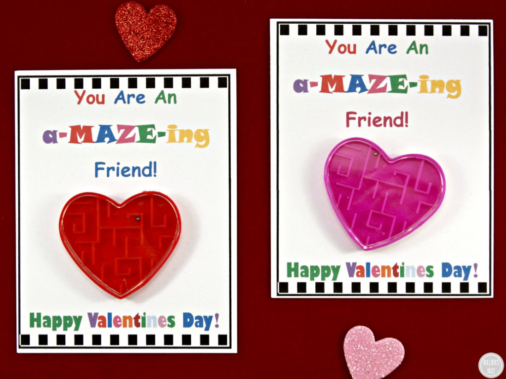 Diy Valentine's Day Cards For Kids With Free Printable! - Bullock's Buzz | Printable Valentines Day Cards For Best Friends