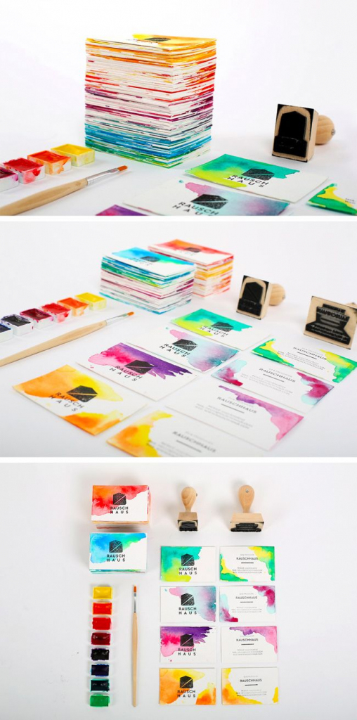 Diy Watercolor Business Cards Gallery: Plus Quick Tips On Making | Make Your Own Business Cards Free Printable