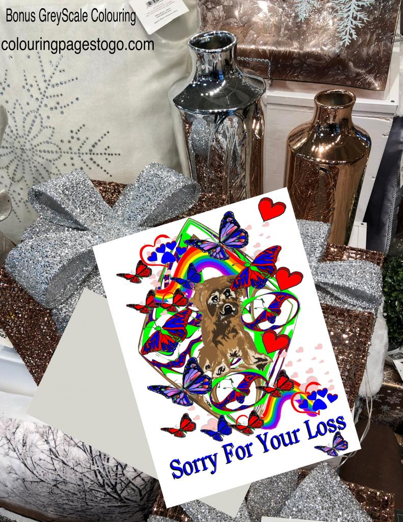 Dog Sympathy Card, Printable Dog Sympathy Card, Dog Condolence Card | Printable Pet Sympathy Cards
