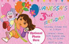 Dora Birthday Cards Free Printable