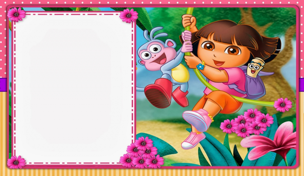 Dora The Explorer: Free Printable Invitations, Boxes And Party | Dora Birthday Cards Free Printable
