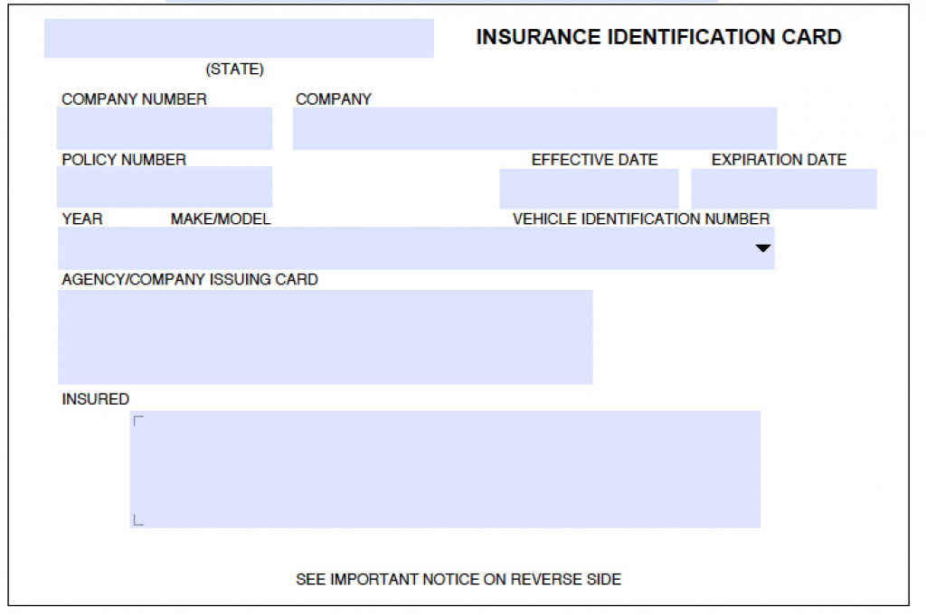 Download Auto Insurance Card Template Wikidownload | Printable Fake Car Insurance Cards