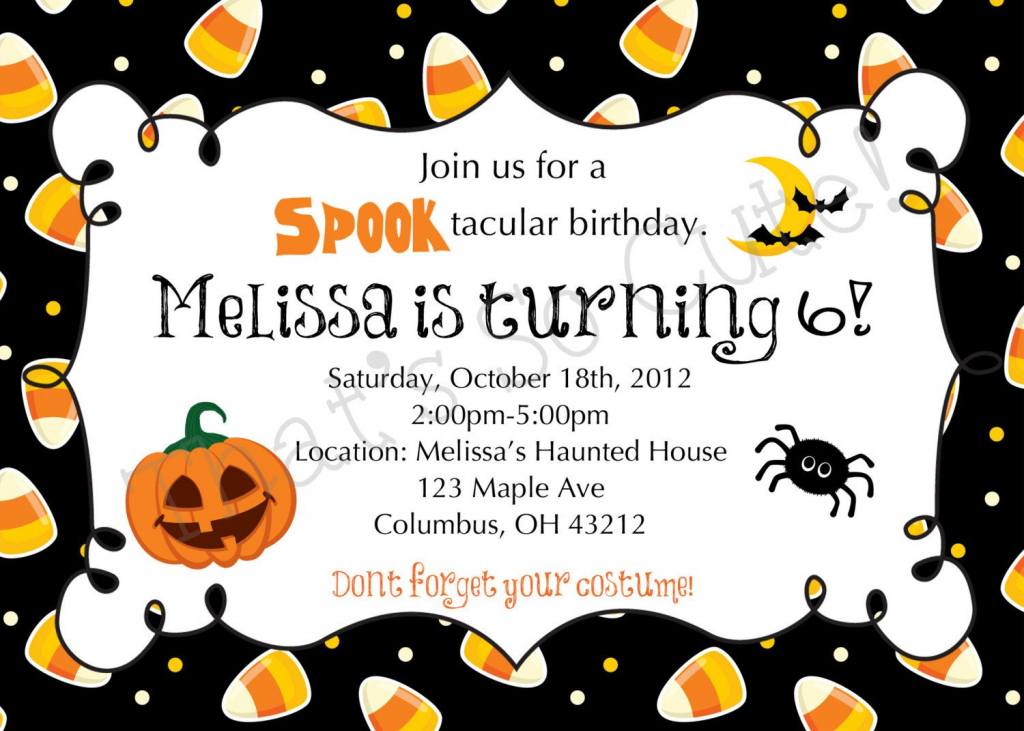 Download Free Template Free Printable Halloween Birthday Party | Printable Halloween Greeting Cards