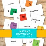 Download Periodic Table Flash Cards Printable Flashcards   Etsy   Periodic Table Flash Cards Printable