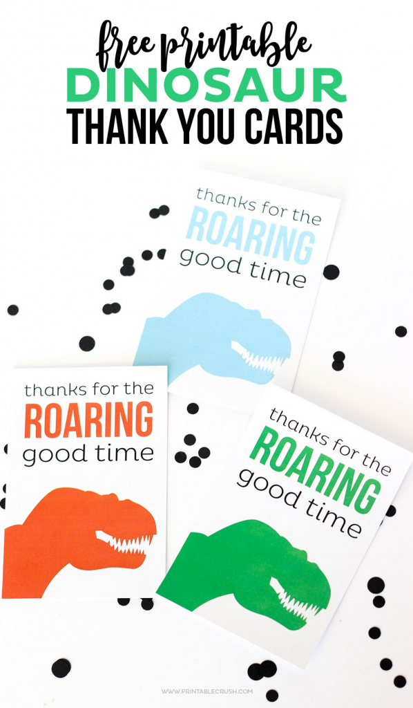 Download These Cute And Free Printable Dinosaur Thank You Cards | Dinosaur Thank You Cards Printable