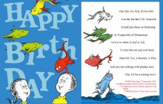Dr Seuss Birthday Card Printable