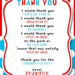 Dr Seuss Party Thank You! | Phoenix's Dr Seuss Birthday Party! | Dr | Printable Dr Seuss Thank You Cards