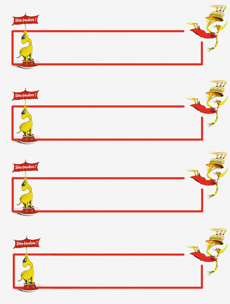 Dr Seuss Thank You Cards – – Free Printable Name And Address Labels | Printable Dr Seuss Thank You Cards