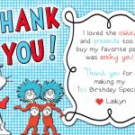 Dr. Suess Thing 1 Thing 2 Thank You Card | Kids Bday | Thing 1 Thing | Printable Dr Seuss Thank You Cards