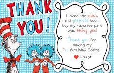 Printable Dr Seuss Thank You Cards