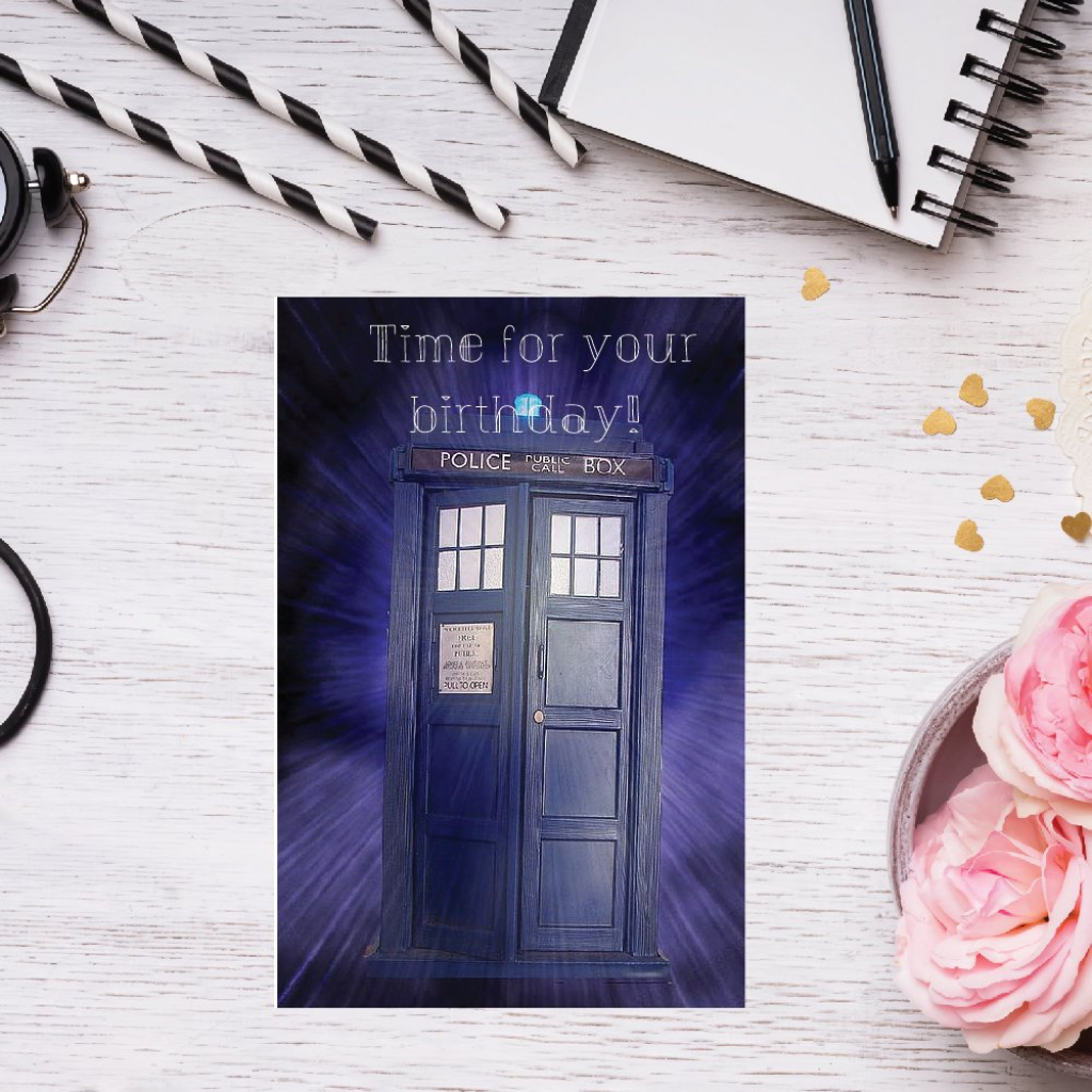 Dr Who Birthday Card Dr Who Card Doctor Who Birthday Pun | Etsy | Free Printable Dr Who Birthday Card