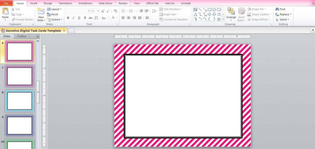"☆ Rockstar Math Teacher ☆: Socrative 101 - Making ""digital Task Cards""   Free Printable Blank Task Cards"