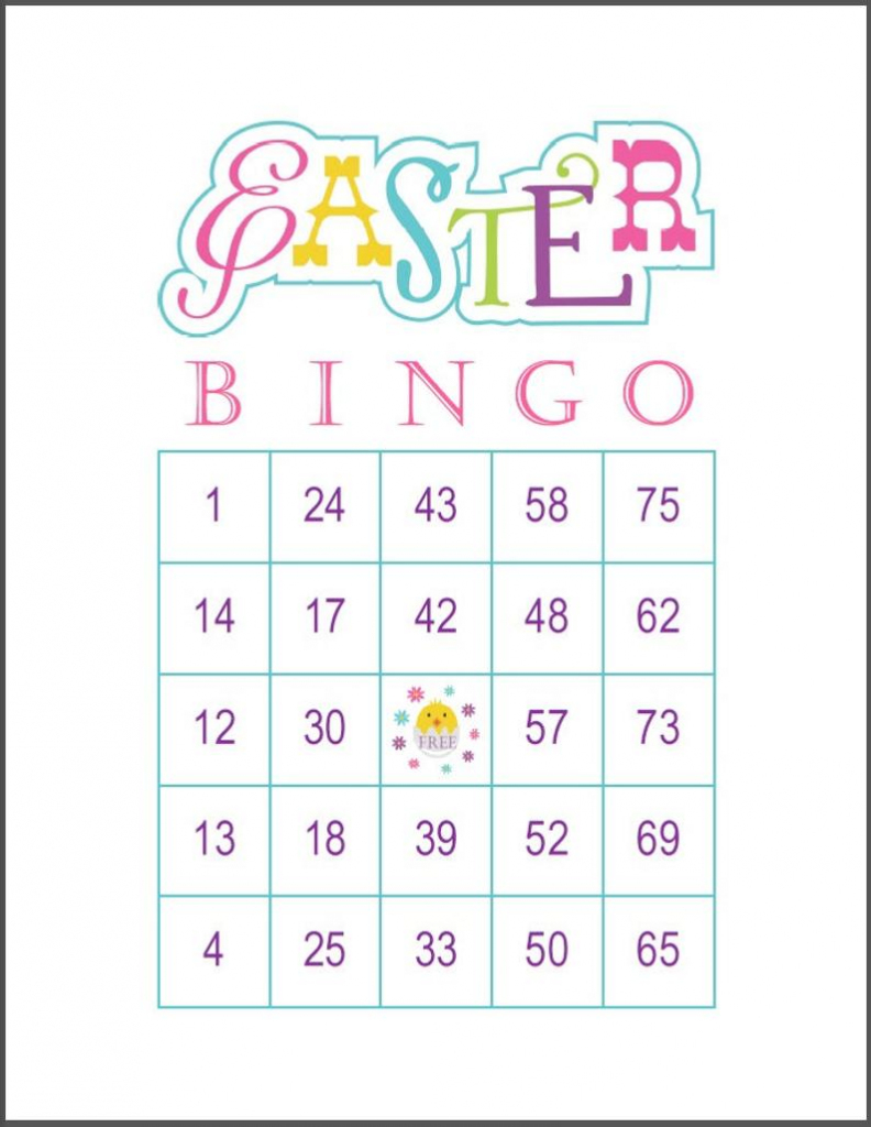 Easter Bingo Game Cards 100 Cards 1 Per Page 75 Call | Etsy | Printable Bingo Cards 1 100