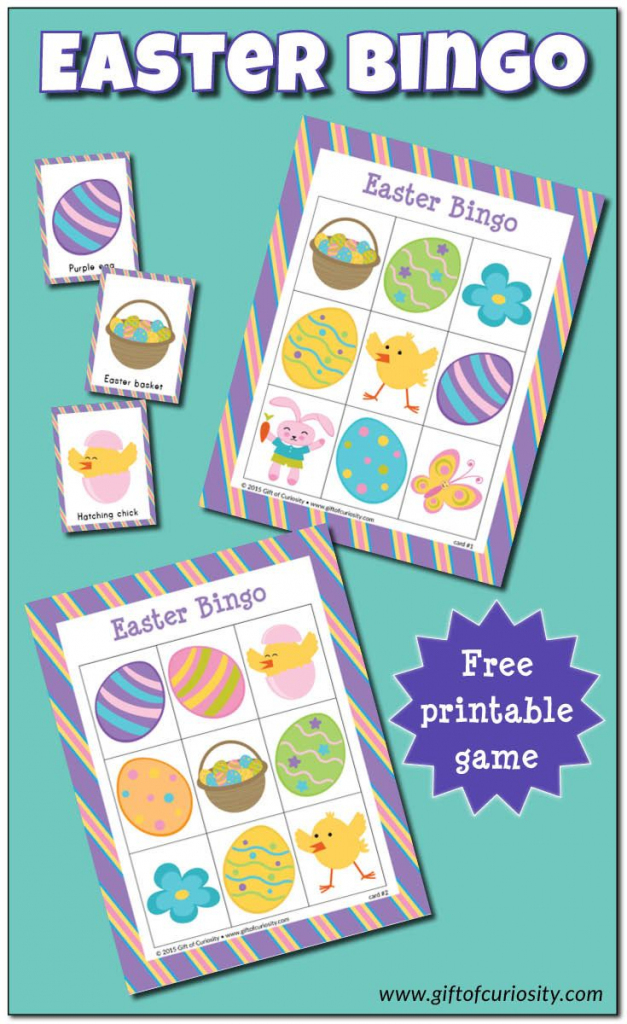Easter Bingo Game {Free Printable} | Gift Of Curiosity | Easter | Free Printable Religious Easter Bingo Cards