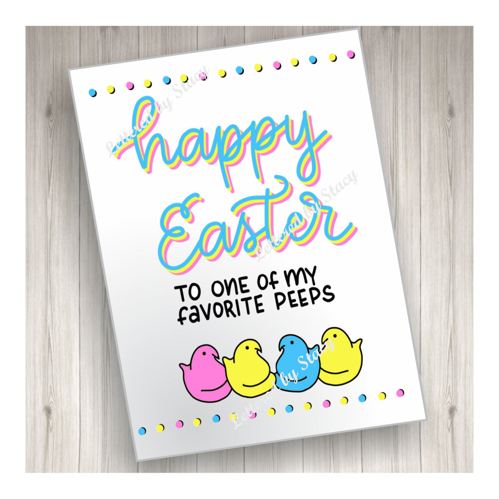 Easter Card Happy Easter To One Of My Favorite Peeps | Etsy | Printable Greek Easter Cards