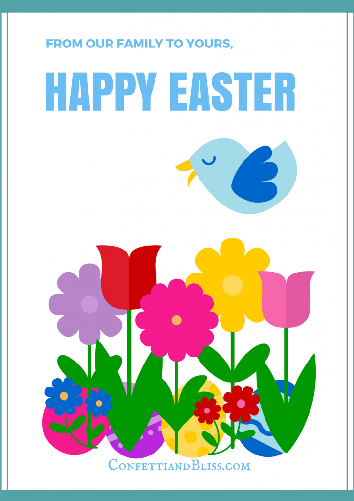 Easter Greeting Card Wording | Confetti & Bliss | Happy Easter Greeting Cards Printable