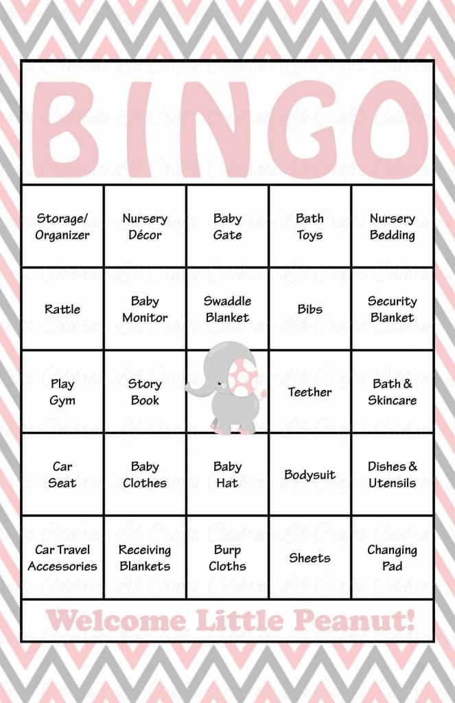 Elephant Baby Shower - Baby Bingo Cards - Printable Download - Baby | Free Printable Baby Shower Bingo Cards Pdf