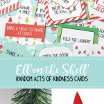 Elf On The Shelf Printable Kindness Cards | Skip To My Lou | Elf On A Shelf Printable Cards