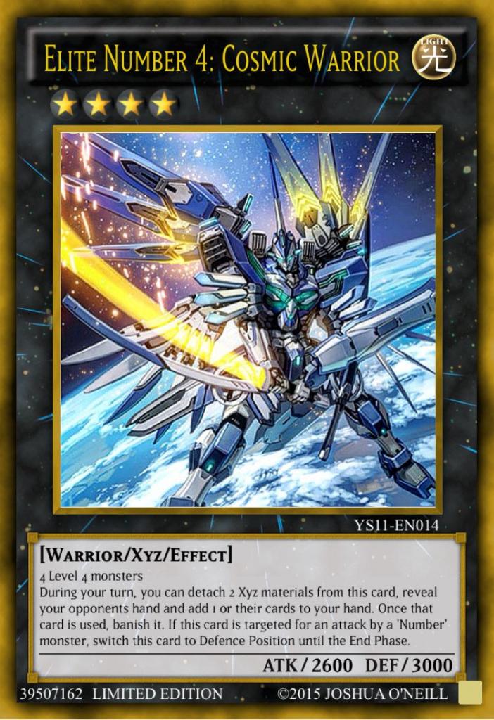Elite Number 4: Cosmic Warrior | Yugioh | Mega Rayquaza, Card | Yugioh Card Maker Printable