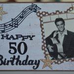 Elvis Presley 'happy 50Th Birthday' Card | Craftyshell's Cards | Elvis Birthday Cards Printable
