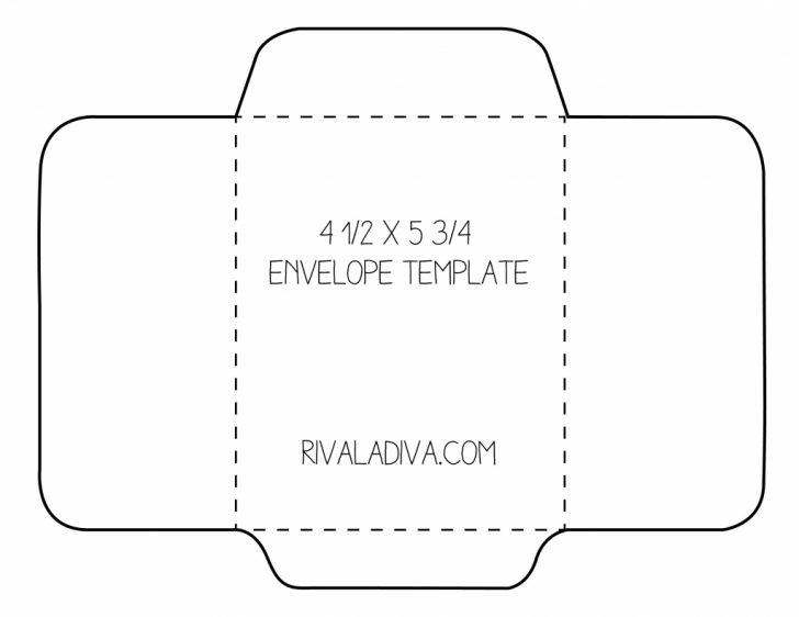 Free Printable Greeting Card Envelope Template