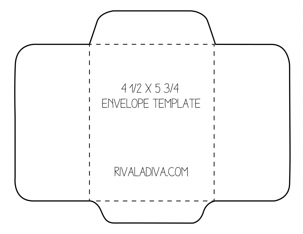 Envelope Template | Envelope Template For 8.5 X 11 Paper Diy | Printable Envelope Template For 4X6 Card
