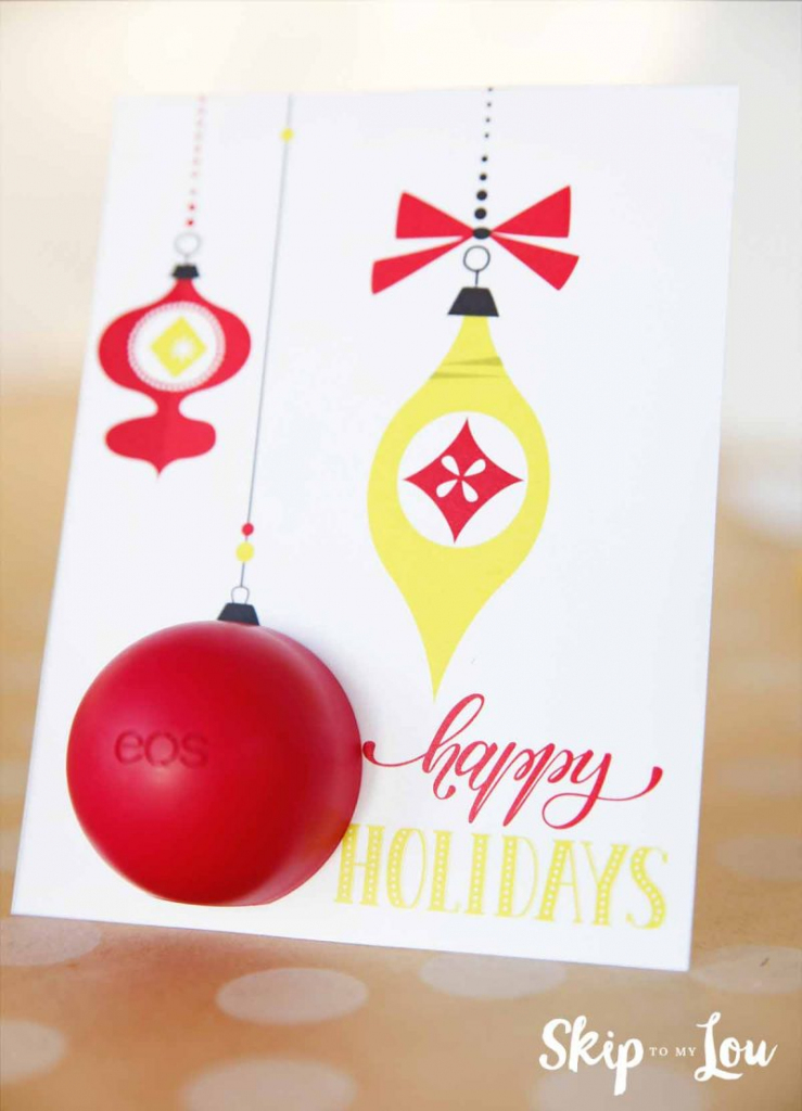 Eos Free Printable Holiday Card | Skip To My Lou | Free Printable Happy Holidays Greeting Cards