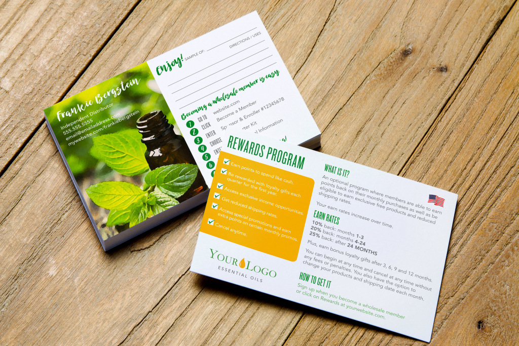 Essential Oil Sample Card W/ Sign-Up Instructions & Reward | Etsy | Free Printable Doterra Sample Cards