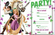 Printable Rapunzel Birthday Card