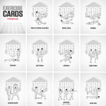 Exercise Cardsdarebee | Printable Fitness Station Cards