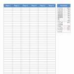 Farkle Score Sheet | Farkle Score Card Printable