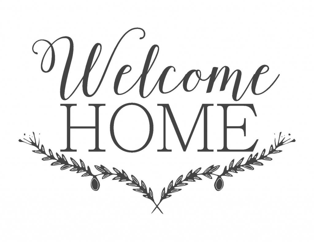 Farmhouse Free Printable Set-Gather-Choose Joy-Welcome Home | ~For | Welcome Home Cards Free Printable