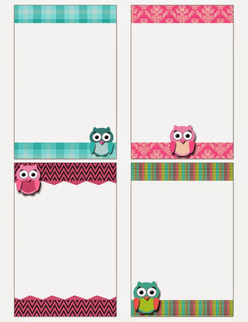 Fashionable Moms: Free Printable: Owl Notecards | Bulletin Board | Free Printable Note Cards
