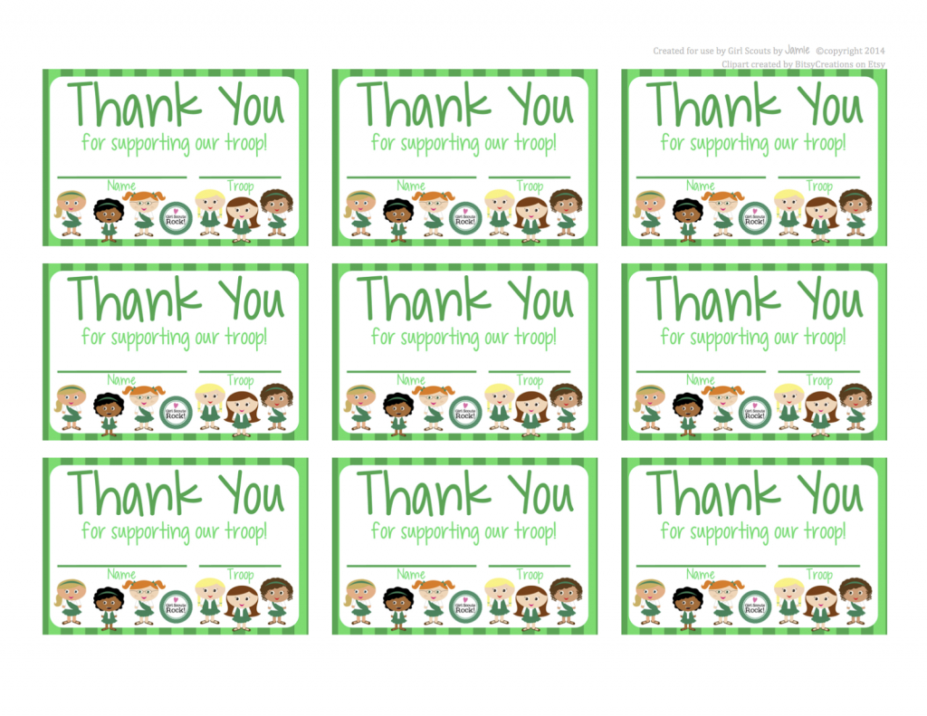 Fashionable Moms: Girl Scouts - Free Printable Thank You Cards | Free Printable Eagle Scout Thank You Cards