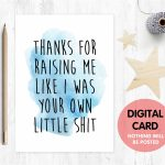 Father's Day Card Printable Funny Stepdad Card Digital | Etsy | Printable Step Dad Fathers Day Cards