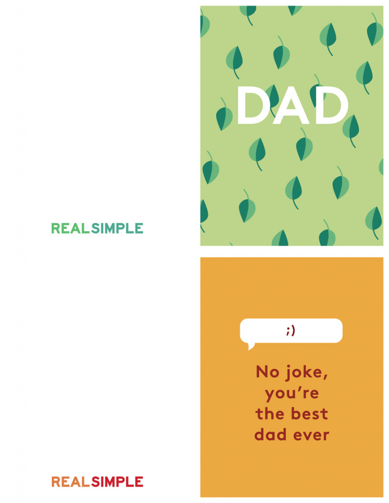 Father's Day Printable Cards | Real Simple | Happy Fathers Day Cards Printable