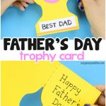Father's Day Trophy Card   With Printable Trophy Template   Easy | Super Dad Card Printable
