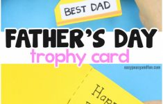 Father's Day Trophy Card – With Printable Trophy Template – Easy | Super Dad Card Printable