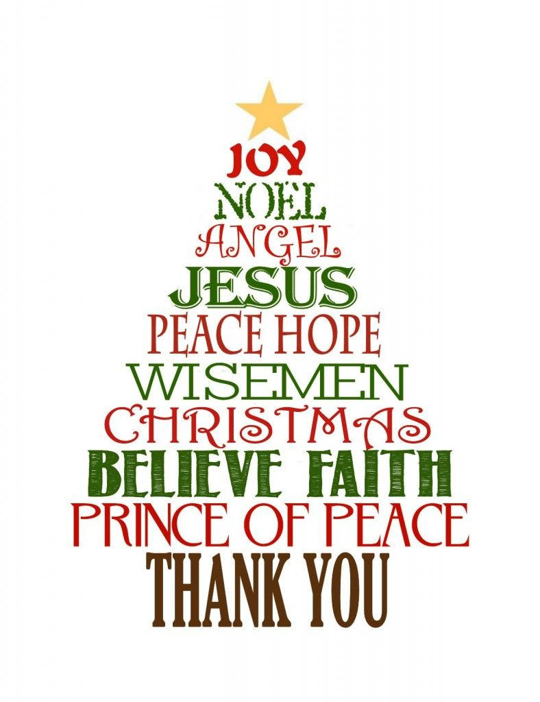 Favorite Christmas Gift: Thank You Cards | Cards - Thank You | Printable Christian Christmas Cards
