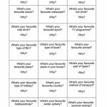 Favourites Conversation Cards Worksheet   Free Esl Printable | Printable Conversation Cards For Adults