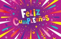 Feliz Cumpleanos Happy Birthday In Spanish Card Vector Image | Happy Birthday In Spanish Card Printable