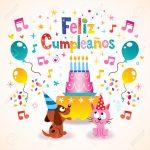 Feliz Cumpleanos   Happy Birthday In Spanish Greeting Card Royalty | Free Printable Happy Birthday Cards In Spanish
